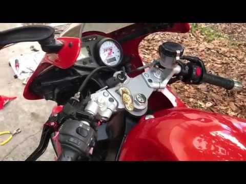 Distilled Water and Vinegar Radiator Coolant Flush 2001 Triumph Sprint RS 955i