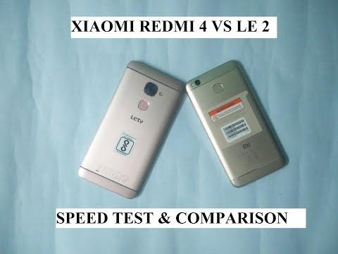 Xiaomi Redmi 4 Vs Le 2 Speed Test & Comparison
