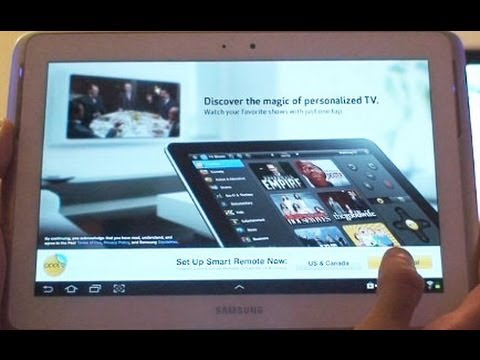TV Remote App Review on Samsung Galaxy Note 10.1 (GT-N8000, GT-N8013)