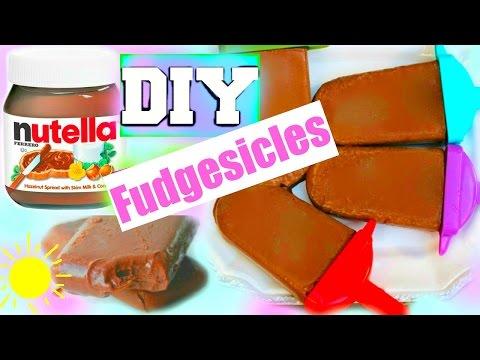 DIY: NUTELLA FUDGESICLES! Easy Under 2 Min!