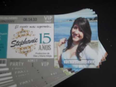 Concert Ticket Invitations VIP Ticket for Quince