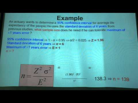 Statistics team 3: HOW TO CHOOSE SAMPLE SIZE