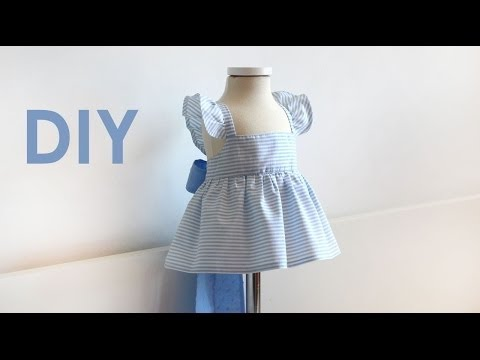 NEWBORN AND BABY SEWING: How to sew a sailor dress
