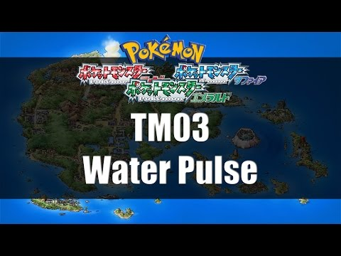 Pokemon Ruby Sapphire & Emerald   Where to find TM03 Water Pulse