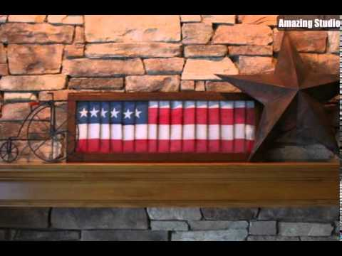 DIY American Flag Painted Shutter
