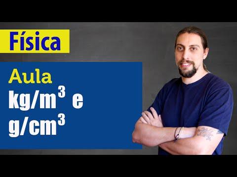 Física - Hidrostática: convertendo Kg/m3 e g/cm3