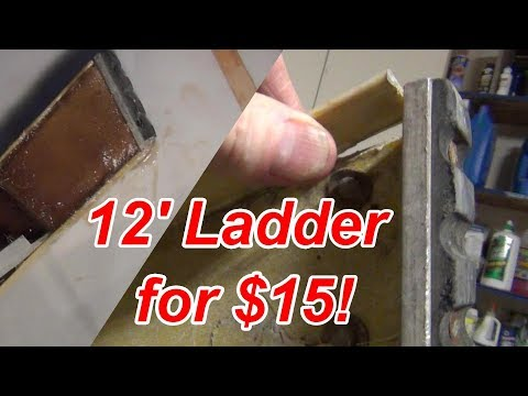 How to Repair a Fiberglass Ladder   if you must