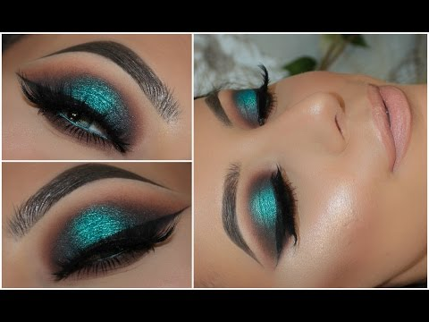 Halo Teal Pop of Colour Smokey Eye | Amys Makeup Box