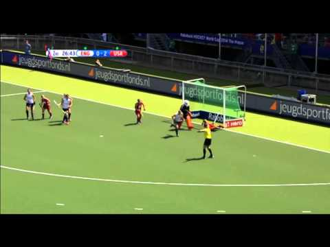 This U.S. Field Hockey Team player was very lucky to avoid injury...