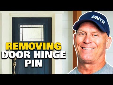 How To Remove A Door Hinge Pin.  Door hinge pin removal hacks.  Home improvement hacks.