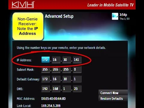 How to Find the IP Address on a DIRECTV Receiver