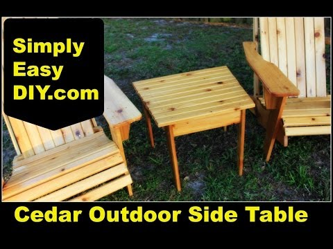Cedar Adirondack Style Outdoor Side Table