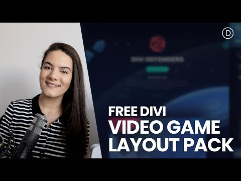 Get a FREE Video Game Layout Pack for Divi