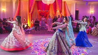 Bride's Surprise Mehndhi Performance and Bridesmaids Performance