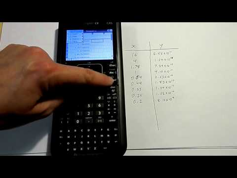 Linear regression and line of best fit on a Nspire CX calculator