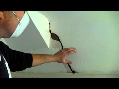 How to fill a large crack in plaster