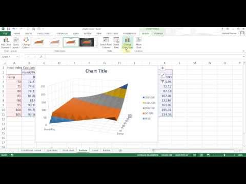 Microsoft Excel 2013/2016 pt 10 (Conditional format, Sparklines, other Charts)