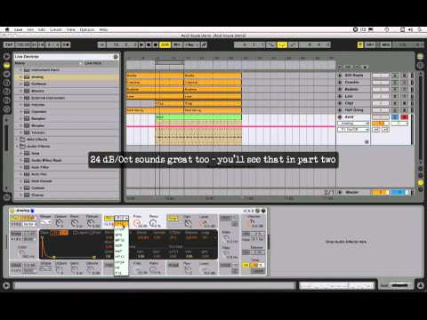 Acid House Tutorial - Roland TB303 Sound in Ableton Live (pt 1)