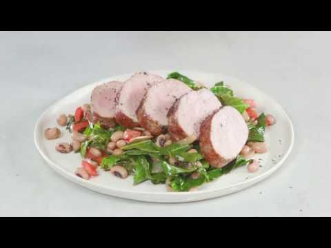 Pork Tenderloin and Collards Skillet | Cooking Light