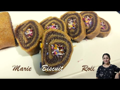Marie Biscuit Roll - No Gas No Oven recipe