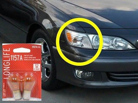 LEXUS ES300 FRONT BLINKER Light Bulb Replacement 1157A es 300
