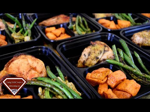 MEAL PREP IDEAS |ROASTED CHICKEN, ROASTED SWEET POTATOES, GREEN BEANS |Cooking With Carolyn