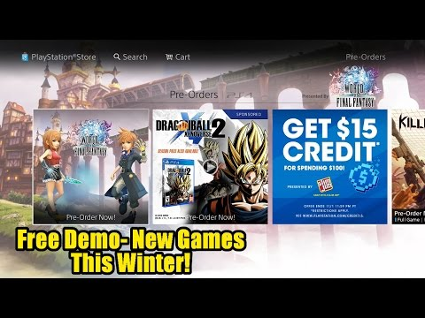 Free PS4 Demo- New Games This Winter!