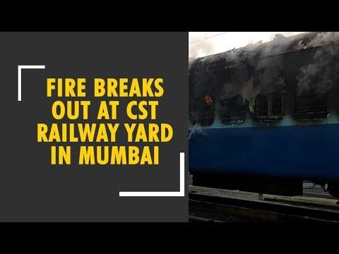 Massive fire breaks out on a train at Mumbai's Chhatrapati Shivaji Terminus