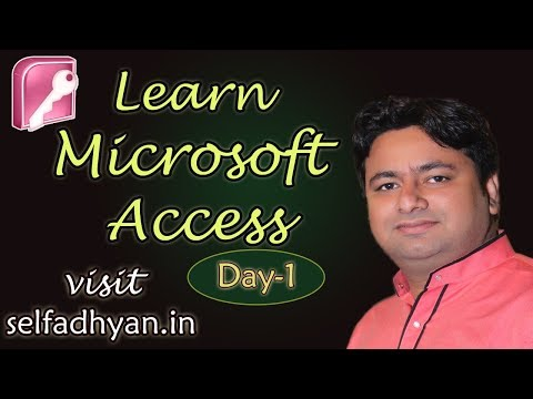 MS ACCESS TABLE CREATE - PART 1 | LEARN MS ACCESS IN HINDI