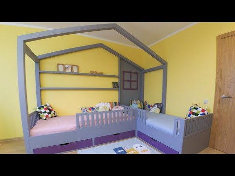 House shaped twin kids bed build (part 2)