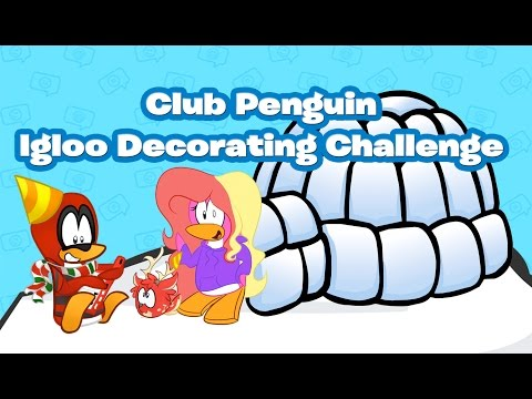 Igloo Decorating Challenge with @Maddie8972 | Club Penguin