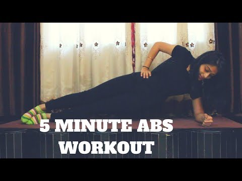 5 Minute Abs Workout At Home | 5 Simple Exercises | WORKitOUT