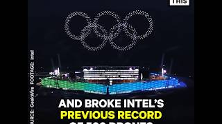 More than 1,000 synchronized drones kicked off the 2018 Olympics