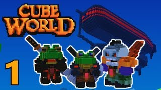 [1] The Quest For The Flight Master! (Cube World Gameplay)