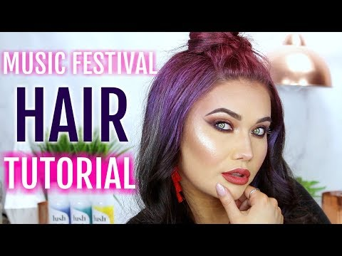 MUSIC FESTIVAL HAIR TUTORIAL | Giveaway + Hush Prism Airbrush Spray Review