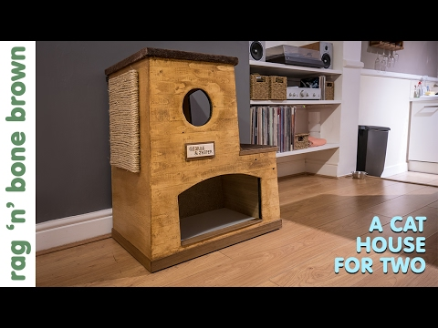 Making A Cat House For Two - using scraps of wood