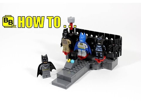 HOW TO MAKE A LEGO BATMAN MOVIE MINIFIGURE SUIT RACK