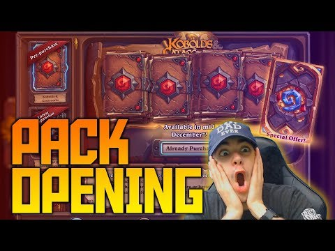 The Best Pack Opening of All Time?!   Kobolds and Catacombs   Hearthstone