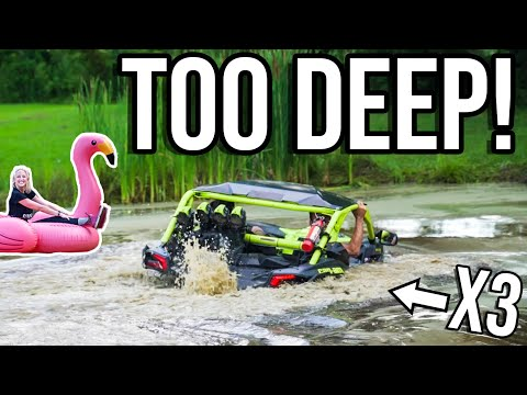 TAKING MY 2020 CAN-AM X3 IN THE POND! *EPIC!*