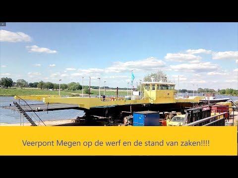 Veerpont Megen op de werf en hoe het er nu voorstaat!!