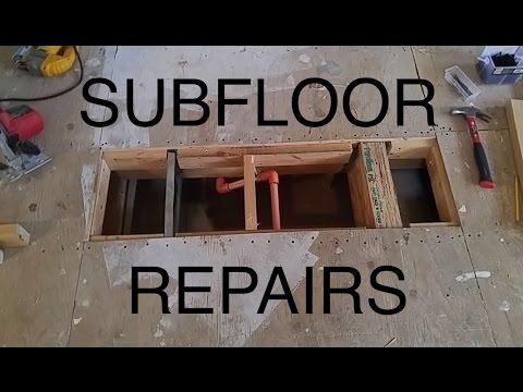 DIY: Damaged Plywood Subfloor Repair/Patch