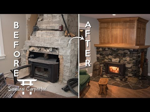 FIREPLACE MAKEOVER!!! Start To Finish!