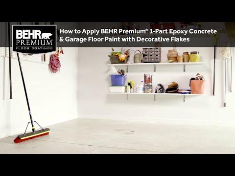 How to Apply BEHR Premium® 1-Part Epoxy Concrete & Garage Floor Paint with Decorative Flakes