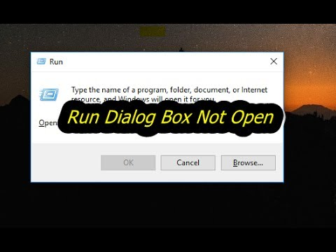 run dialog box not open how to fix In Any Windows