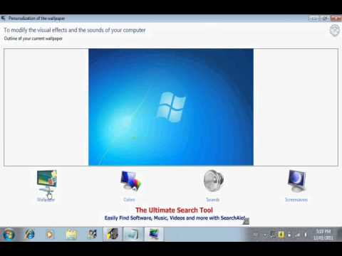 how to change your background in windows 7 starter