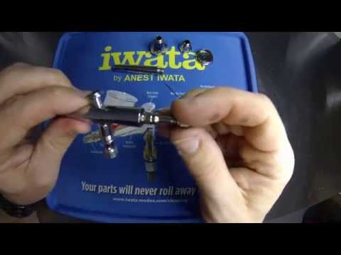 Airbrush Quick Tips - How to clean and pull apart a HP CN Neo for Iwata airbrush.