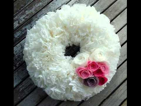 Tissue Paper Craft | Tissue Paper Wreath