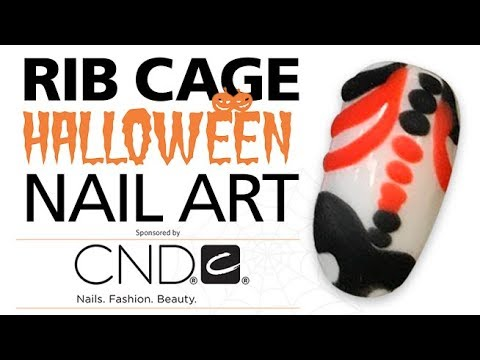 Halloween Nails: Skeleton Rib Cage Nail Tutorial