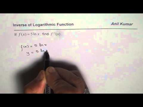 Find Inverse of ln Function
