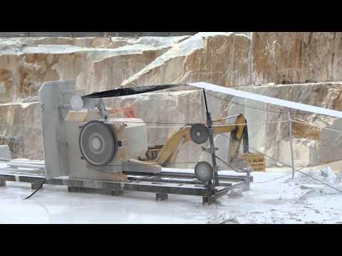 WIRE SAW CUTTING MACHINE S860EG IN CARRARA WHITE MARBLE QUARRY